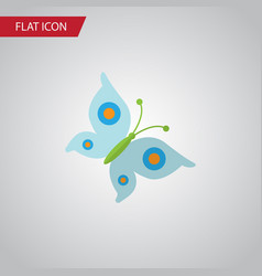 Isolated butterfly flat icon monarch vector