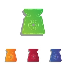 Kitchen scales sign Colorfull applique icons set vector image