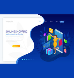 landing page template of shopping online concept vector image