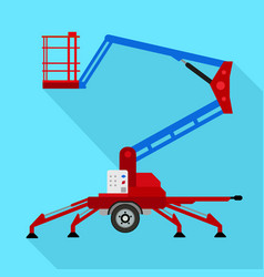 lift trailer icon flat style vector image