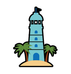 Lighthouse marine symbol vector