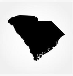 map us state south carolina vector image