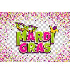 mardi gras colofred confetti background vector image