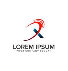 modern letter x logo design concept template vector image