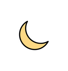 moon night sleep natural business logo template vector image