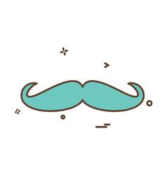 Mustache icon design vector
