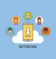 network people scenary vector image vector image