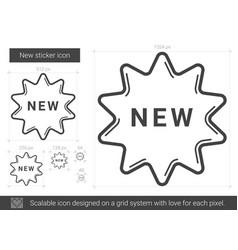 New sticker line icon vector