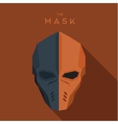 Orange and gray mask hero anti-hero a vector