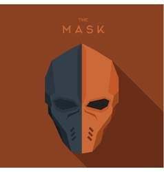 Orange and gray mask of the hero anti-hero vector