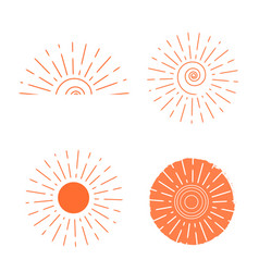 orange sun set vector image