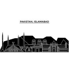 Pakistan islamabad architecture city vector