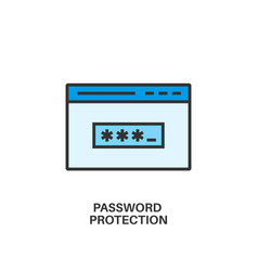 password protection icon vector image