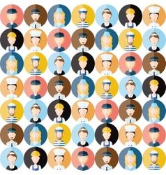 People head seamless pattern vector
