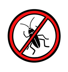 Pest control cockroaches icon symbol vector