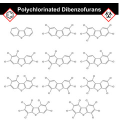 Polychlorinated dibenzofurans dioxine-like class vector