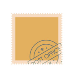 postage stamp with seal icon flat style vector image
