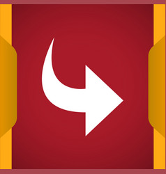 Redo icon for web and mobile vector