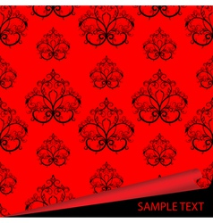 Sample of a fabric with drawing vector
