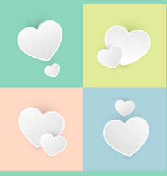 Set happy valentines day color pastel icon symbol vector