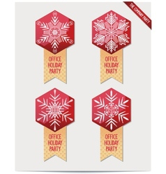 Set of Christmas decorations for your office vector image