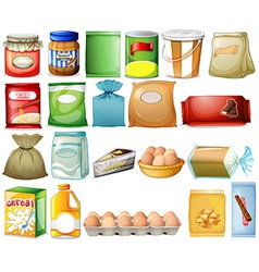 Set of foods vector