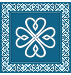 Shamrock - celtic knot traditional irish symbol vector