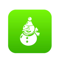snowman icon simple black style vector image