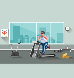 Sport fitness man vector