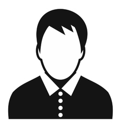 Teenager avatar simple icon vector