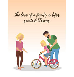 The love of family is lifes greatest blessings vector