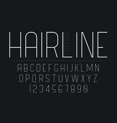 Thin decorative bold font design grunge alphabet vector