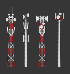 transmission cellular wireless towers set vector image
