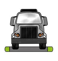 Truck flat scribble vector