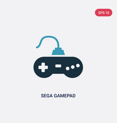 two color sega gamepad icon from technology vector image