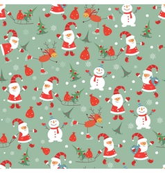 Vintage Christmas seamless pattern vector image