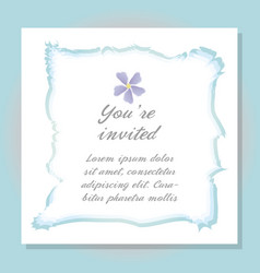 watercolor flower card decoration design vector image