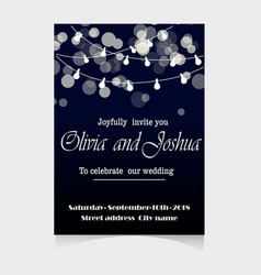 Wedding invitation template design vector