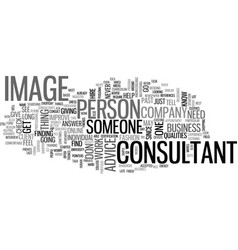 What qualities to look for in an image consultant vector