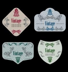 wine labels19 vector image vector image