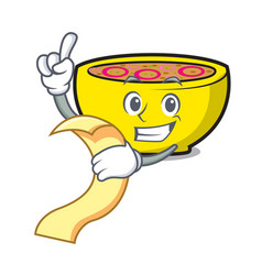 with menu soup union mascot cartoon vector image