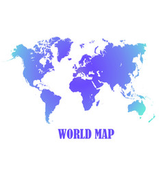 world map all countries white color vector image
