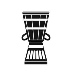 Australian ethnic drum icon simple style vector image vector image