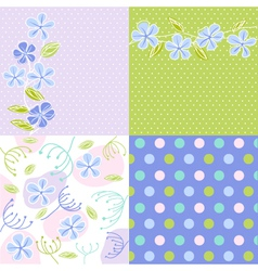 floral fabric texture vector image vector image