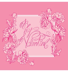 valentine pink card 380 vector image