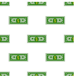 dollars bill seamless pattern on a white vector image vector image