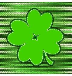 Four leaf clover textile label vector image vector image