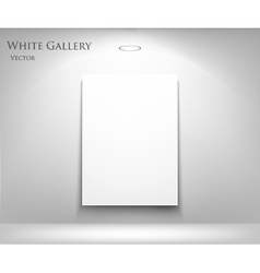 gallery with empty frame vector image
