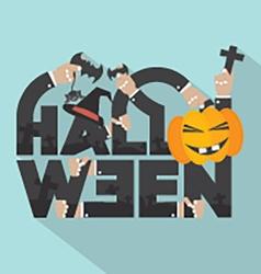 Halloween Typography Design vector image vector image