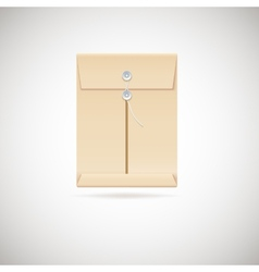 Realistic manila envelope isolated on white vector image